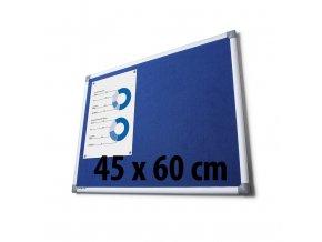 Tabule textilné, 45 x 60 cm, modrá