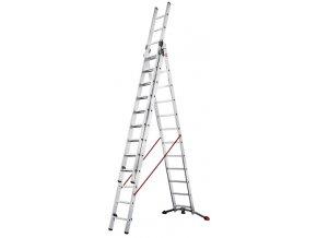 Trojdielny hliníkový kombinovaný rebrík PROFILOT so systémom LOT