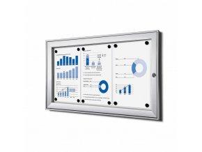 vnitrni vitrina jansen display 3xa4 SCSA4