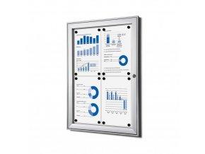 vnitrni vitrina jansen display 4xa4 SCSA4