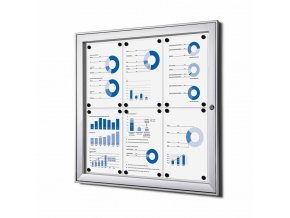 vnitrni vitrina jansen display 6xa4 SCSA4