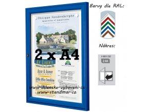 Vonkajšia vitrína 400 × 550 mm, hĺbka 30 mm (farba)
