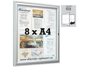 Vonkajšia vitrína 660 x 905 mm, hĺbka 30 mm