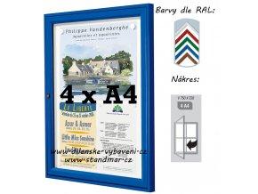 Vonkajšia vitrína 750 × 550 mm, hĺbka 30 mm (farba)