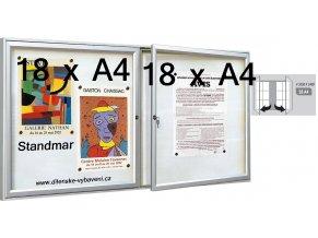 Vonkajšia vitrína dvojkrídlové 1050 × 1400 mm, hĺbka 30 mm (farba)