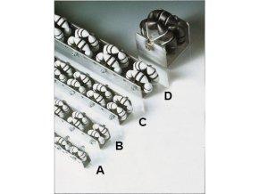 Všesmerová Otočné lišta, dĺžka 1 m, plast, šírka 58 mm, rozteč 66 mm (typ C)