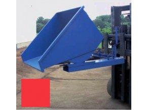 Výklopný kontajner (prepravník) 1700 litrov, var.s kohútom, červená