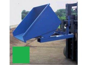 Výklopný kontajner (prepravník) 600 litrov, var.s kohútom, zelená