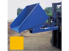 Výklopný kontajner (prepravník) 600 litrov, var.s kohútom, žltá