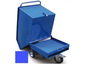 Výklopný vozík na špony, triesky 250 litrov, var.základní, modrý