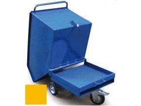 Výklopný vozík na špony, triesky 400 litrov, var.základní, žltý