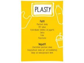 Samolepka triedenie odpadu A4 - plasty