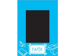 Samolepka triedenie odpadu - veko - papier