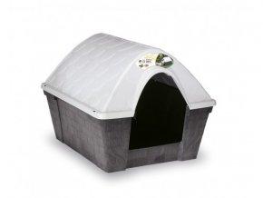 Plastová búda pre psa alebo mačku, sivá