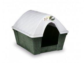 Plastová búda pre psa alebo mačku, zelená
