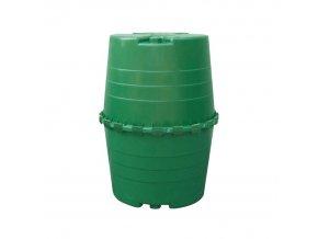 Plastová záhradná nádrž na dažďovú vodu TOPTANK, 1300 l