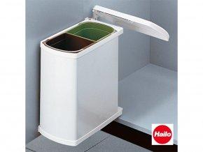 Vstavný odpadkový kôš, Hailo AS Duo 8/8 Öko Flex, biely