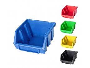 Plastové boxy Ergobox 1 - 7,5 x11,6 x 11,2 cm (Jméno Plastový box Ergobox 1 7,5 x 11,2 x 11,6 cm, oranžový)