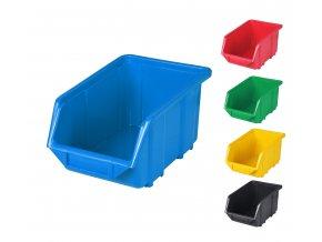 Plastové boxy Ecobox medium 12,5 x 15,5 x 24 cm