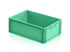 Euro prepravka zelená, plný úchyt 22 x 60 x 40 cm