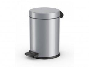 Nášľapný kozmetický kôš Hailo Solid S, 4 litre, strieborný lak