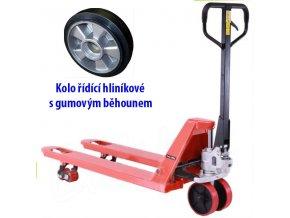 Paletový vozík, gumové riadiace kolesá, 2500 kg, dĺžka vidlíc 1150 mm