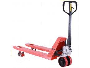 Paletový vozík, polyureatanové riadiace kolesá, 2500 kg