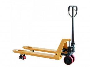 Paletový vozík, polyuretánová riadiace kolesá, 2000 kg