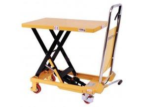 Mobilný hydraulický zdvíhací stôl, do 150 kg, doska 74 x 45 cm