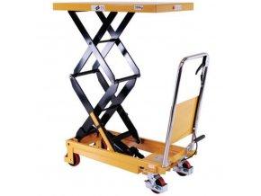 Mobilný hydraulický zdvíhací stôl, do 350 kg, doska 91 x 50 cm