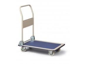 Plošinový vozík so sklopným madlom (nešpinivá kola), do 250 kg
