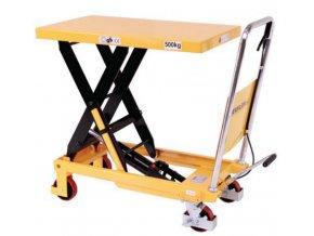 Mobilný hydraulický zdvíhací stôl, do 500 kg, doska 81,5 x 50 cm
