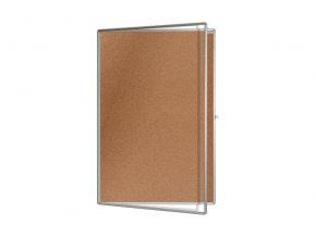 Korková vitrína ekoTAB, 75 x 100 a 100 x 150 cm