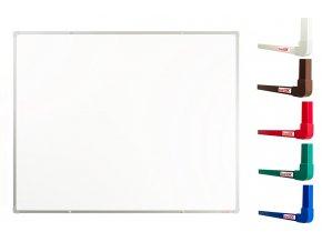 Biele magnetické tabule boardOK 150 x 120 cm