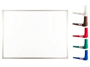 Biele magnetické tabule boardOK 120 x 90 cm