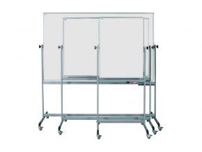 Mobilné otočné biele magnetické tabule ekoTAB, lakované