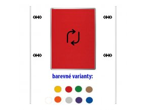 Obojstranný textilný paraván ekoTAB, 75 x 100 cm