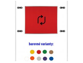 Obojstranný textilný paraván ekoTAB, 120 x 90 cm