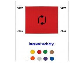 Obojstranný textilný paraván ekoTAB, 150 x 120 cm