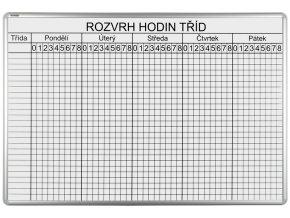 Školská Rozvrhová ekoTAB tabuľa, 100 x 70 cm, 26 tried