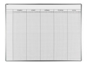 Školská Rozvrhová ekoTAB tabuľa, 140 x 100 cm, 40 tried