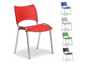 Konferenčná stolička, chróm-plast, Smart