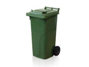 Popolnice 120 litrov zelená