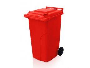 Popolnice 240 litrov červená