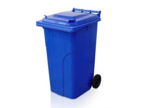 Popolnice 240 litrov modrá