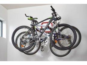 Stenový držiak bicyklov - 3 kolá