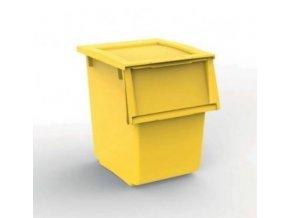 Odpadkový kôš, 25 litrov, ECOLINE žltý
