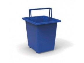 Odpadkový kôš, 30 litrov, ECOLINE modrý