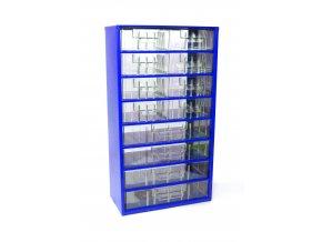 Kovový organizér, 12 zásuviek, modrá