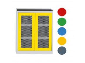 Skriňa na chemikálie, drôtené dvere, 1180 x 950 x 500 mm